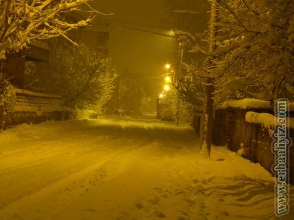 Erbaa'da Kar 8-9-10 Ocak 2013